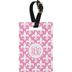 Fleur De Lis Rectangular Luggage Tag (Personalized)