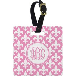 Fleur De Lis Square Luggage Tag (Personalized)