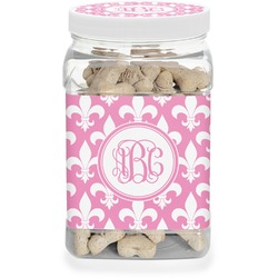 Fleur De Lis Pet Treat Jar (Personalized)