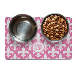 Fleur De Lis Pet Bowl Mat (Personalized)