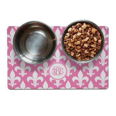 Fleur De Lis Pet Bowl Mat (Personalized)