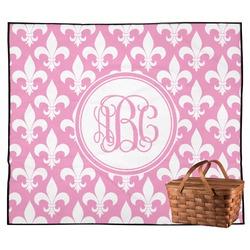 Fleur De Lis Outdoor Picnic Blanket (Personalized)