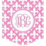 Fleur De Lis Iron On Faux Pocket (Personalized)