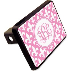 "Fleur De Lis Rectangular Trailer Hitch Cover - 2"" (Personalized)"