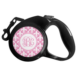 Fleur De Lis Retractable Dog Leash - Multiple Sizes (Personalized)