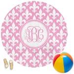 Fleur De Lis Round Beach Towel (Personalized)