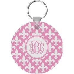 Fleur De Lis Round Keychain (Personalized)
