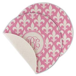Fleur De Lis Round Linen Placemat (Personalized)