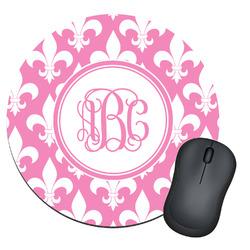 Fleur De Lis Round Mouse Pad (Personalized)
