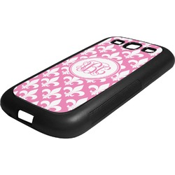 Fleur De Lis Rubber Samsung Galaxy 3 Phone Case (Personalized)