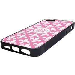 Fleur De Lis Rubber iPhone 5/5S Phone Case (Personalized)