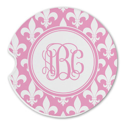 Fleur De Lis Sandstone Car Coasters (Personalized)