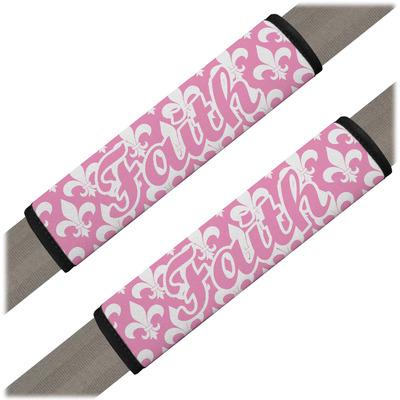 Fleur De Lis Seat Belt Covers (Set of 2) (Personalized)