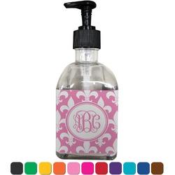 Fleur De Lis Soap/Lotion Dispenser (Glass) (Personalized)