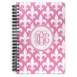 Fleur De Lis Spiral Notebook (Personalized)