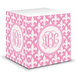 Fleur De Lis Sticky Note Cube (Personalized)