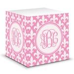 Fleur De Lis Sticky Note Cube (Personalized)