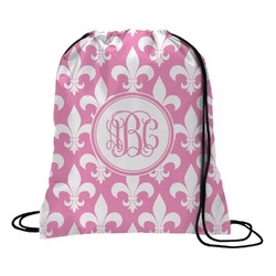Fleur De Lis Drawstring Backpack (Personalized)