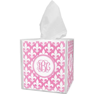 Fleur De Lis Tissue Box Cover (Personalized)