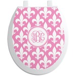 Fleur De Lis Toilet Seat Decal (Personalized)