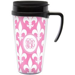 Fleur De Lis Travel Mug with Handle (Personalized)