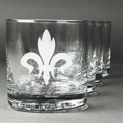 Fleur De Lis Whiskey Glasses (Set of 4) (Personalized)
