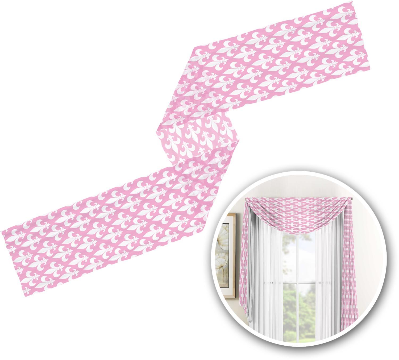 Fleur De Lis Window Sheer Scarf Valance Personalized