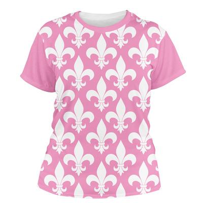 Fleur De Lis Women's Crew T-Shirt (Personalized)