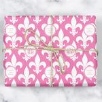 Fleur De Lis Wrapping Paper (Personalized)