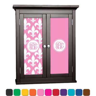 Fleur de lis cabinet decal small personalized for Sideboard flur