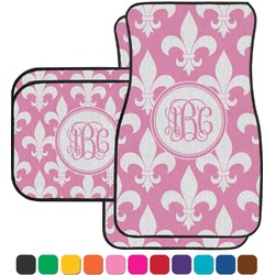 Fleur De Lis Car Floor Mats Set - 2 Front & 2 Back (Personalized)