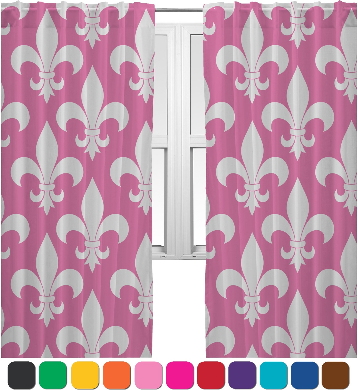Fleur De Lis Curtains (2 Panels Per Set) (Personalized)