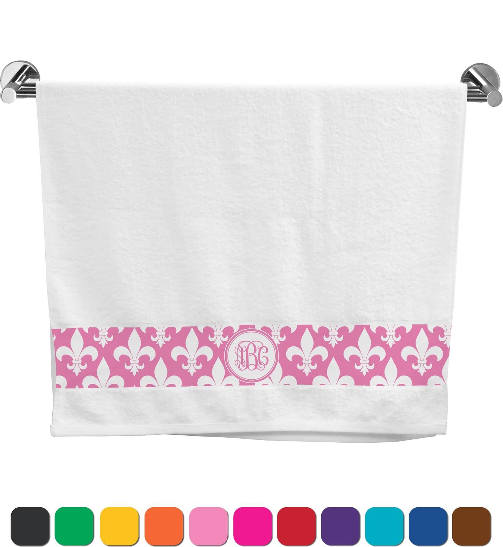 Fleur de lis bath towel personalized youcustomizeit - Fleur de lis bath towels ...