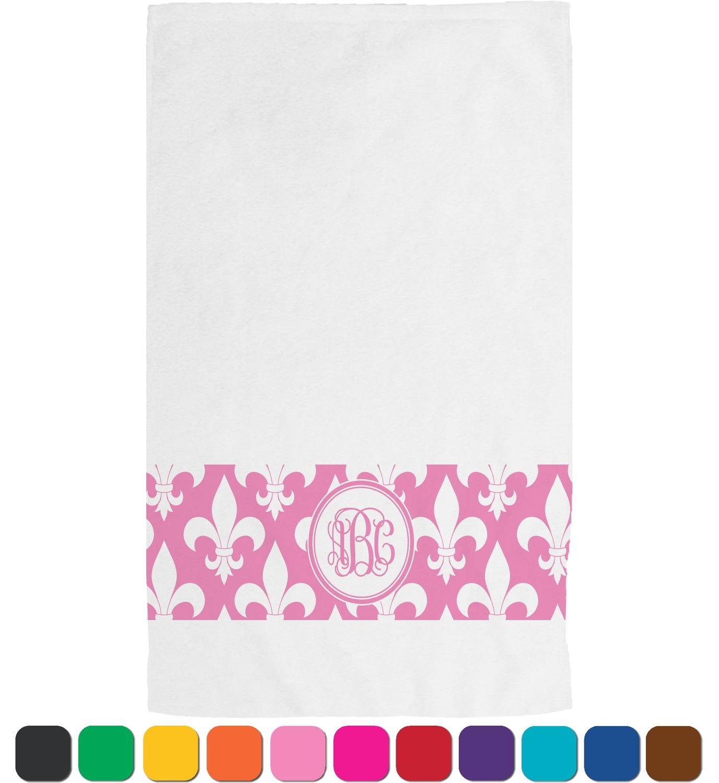 Fleur de lis hand towel personalized youcustomizeit - Fleur de lis bath towels ...