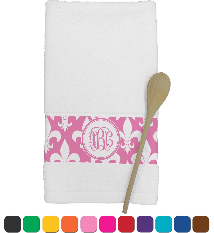 Fleur de lis kitchen towel personalized rnk shops - Fleur de lis bath towels ...