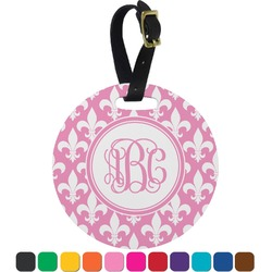 Fleur De Lis Round Luggage Tag (Personalized)