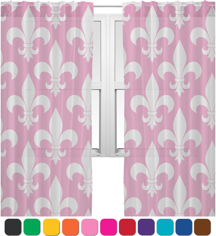 Fleur De Lis Sheer Curtains 60 X84 Personalized You
