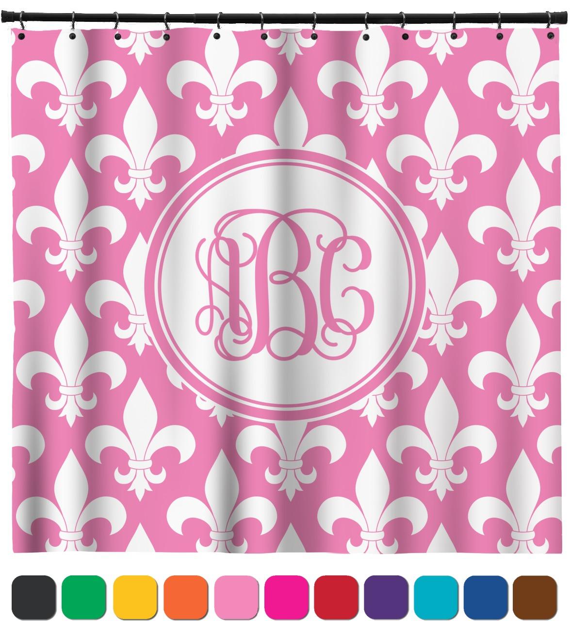 Fleur De Lis Shower Curtain Personalized