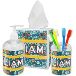 Rocket Science Acrylic Bathroom Accessories Set w/ Name or Text