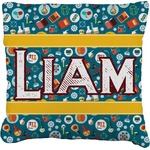 Rocket Science Faux-Linen Throw Pillow (Personalized)