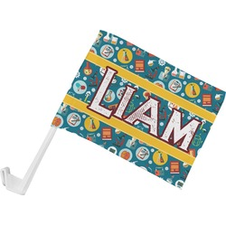 Rocket Science Car Flag - Small w/ Name or Text