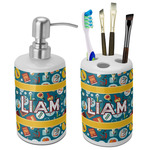 Rocket Science Ceramic Bathroom Accessories Set (Personalized)