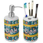 Rocket Science Ceramic Bathroom Accessories Set (Personalized)