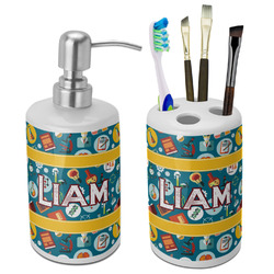 Rocket Science Bathroom Accessories Set (Ceramic) (Personalized)