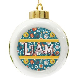 Rocket Science Ceramic Ball Ornament (Personalized)