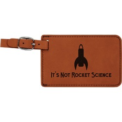 Rocket Science Leatherette Luggage Tag (Personalized)