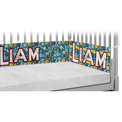 Rocket Science Crib Bumper Pads (Personalized)