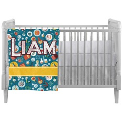 Rocket Science Crib Comforter / Quilt (Personalized)