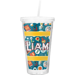 Rocket Science Double Wall Tumbler with Straw (Personalized)