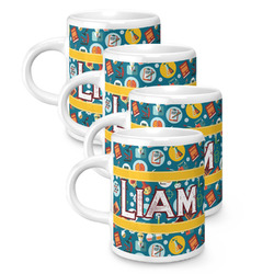 Rocket Science Espresso Mugs - Set of 4 (Personalized)